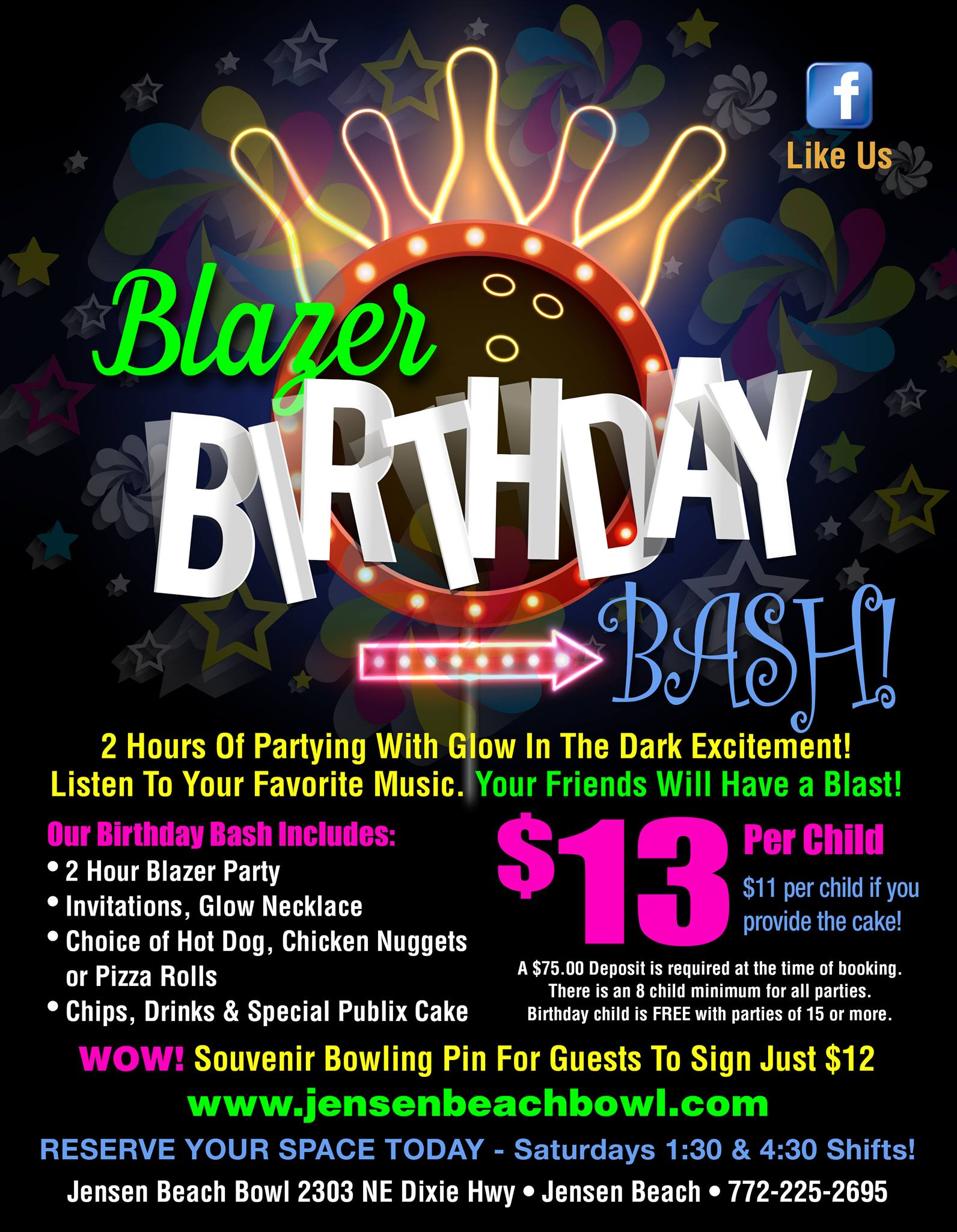 Blazer bday bash flyer